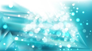 Abstract Turquoise and White Bokeh Defocused Lights Background