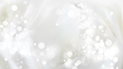 Abstract White Bokeh Background Vector