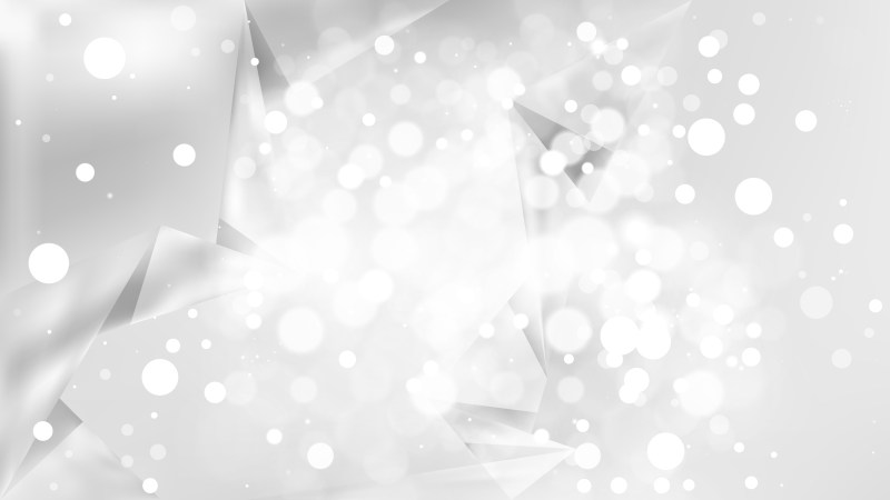 Abstract White Bokeh Lights Background Vector