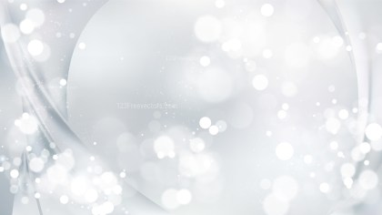 Abstract White Bokeh Background Image