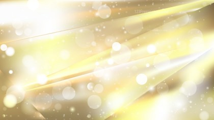 Abstract White and Gold Bokeh Defocused Lights Background Image