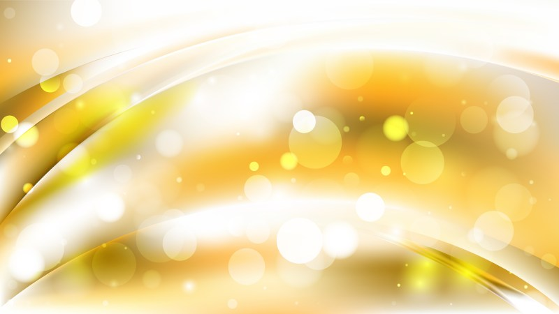Abstract White and Gold Bokeh Lights Background Design