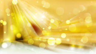 Abstract White and Gold Blurred Lights Background Design