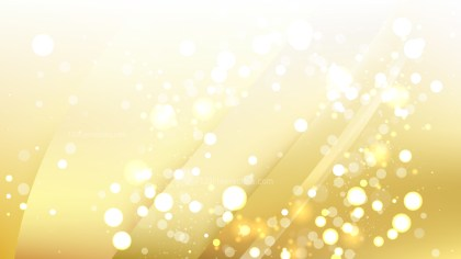 Abstract White and Gold Defocused Background Design