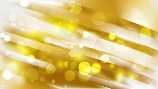 Abstract White and Gold Defocused Lights Background Design