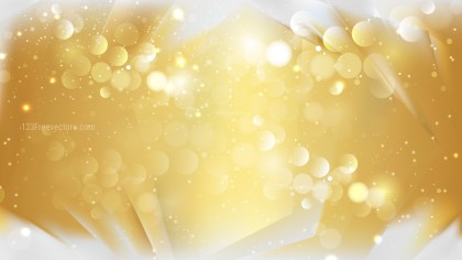 Abstract White and Gold Bokeh Defocused Lights Background Design