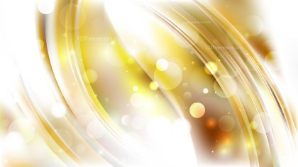 Abstract White and Gold Bokeh Background Design