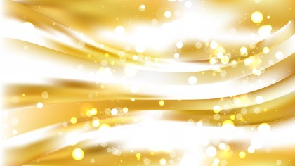 Abstract White and Gold Lights Background Design