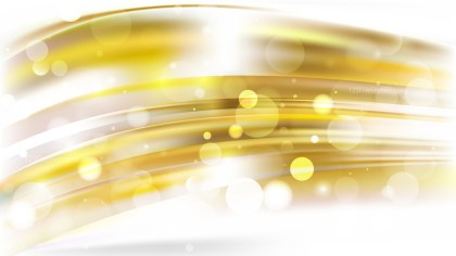 Abstract White and Gold Bokeh Background
