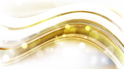 Abstract White and Gold Blur Lights Background