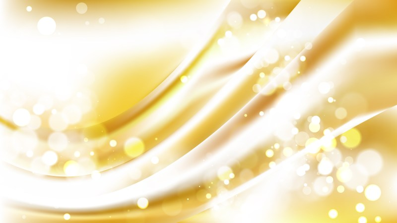Abstract White and Gold Blurry Lights Background