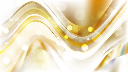 Abstract White and Gold Lights Background