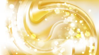 Abstract White and Gold Blurred Bokeh Background