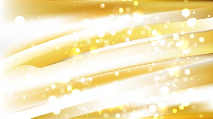 Abstract White and Gold Bokeh Lights Background