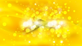 Abstract Yellow Blurred Bokeh Background
