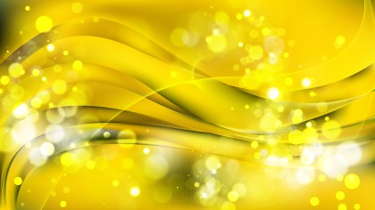 Abstract Yellow Bokeh Defocused Lights Background