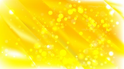 Abstract Yellow Blurred Lights Background Vector