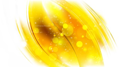 Abstract Yellow and White Blurry Lights Background Vector