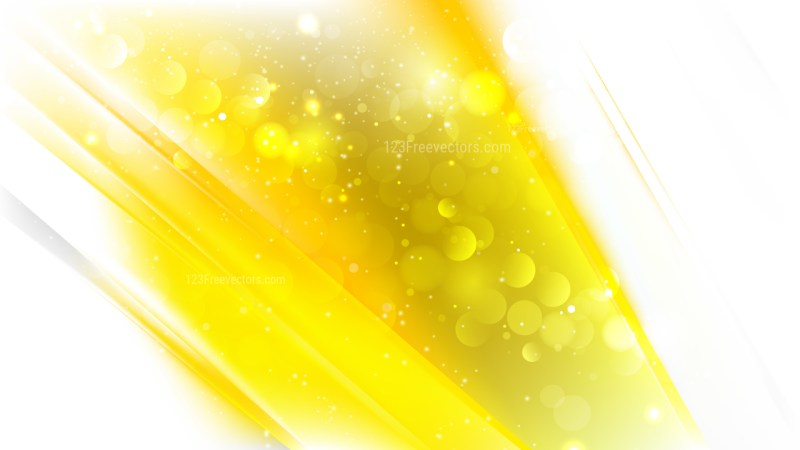 Abstract Yellow and White Defocused Lights Background Vector