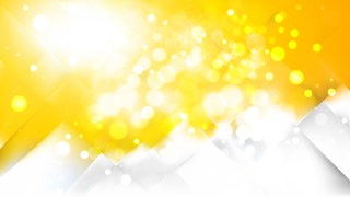 Abstract Yellow and White Bokeh Lights Background Image