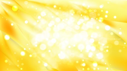 Abstract Yellow and White Blurred Bokeh Background Image