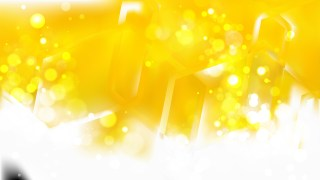 Abstract Yellow and White Bokeh Background Image