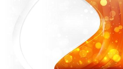Bright Orange Business Background Template Vector Illustration