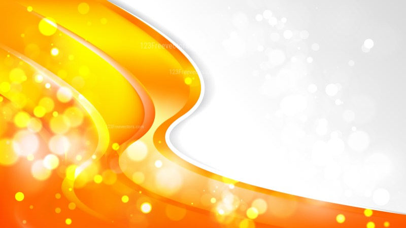 Abstract Bright Orange Business Background Template