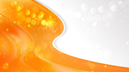 Abstract Bright Orange Wave Business Background