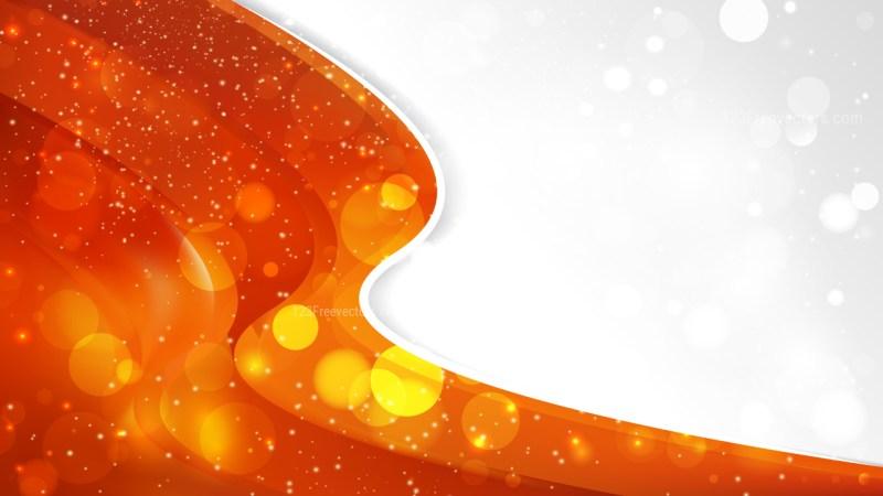 Bright Orange Wave Business Background Graphic