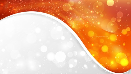 Bright Orange Wave Business Background Design