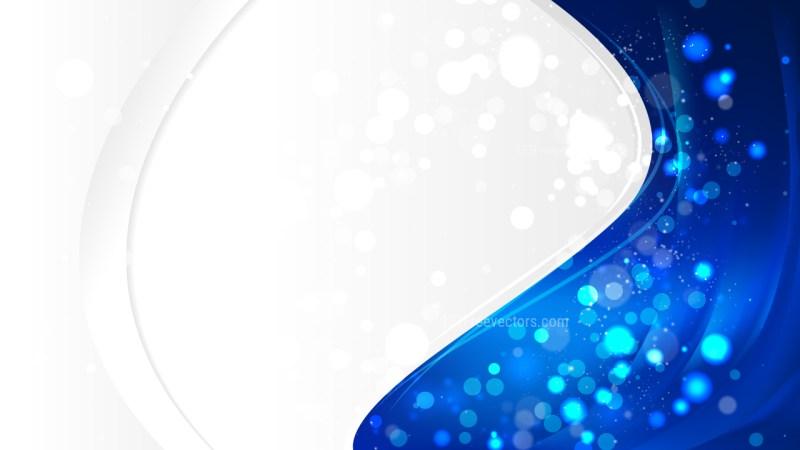 Abstract Cobalt Blue Wave Business Background Vector Art