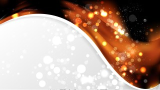 Cool Orange Wave Business Background