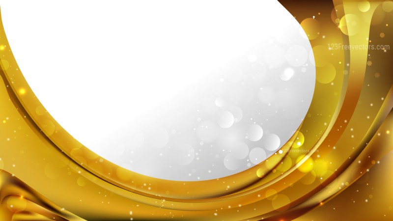 Abstract Gold Business Brochure Illustrator