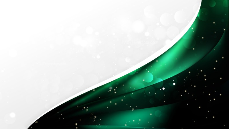 Abstract Green and Black Wave Business Background Design Template