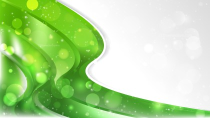 Green and White Wave Business Background Template