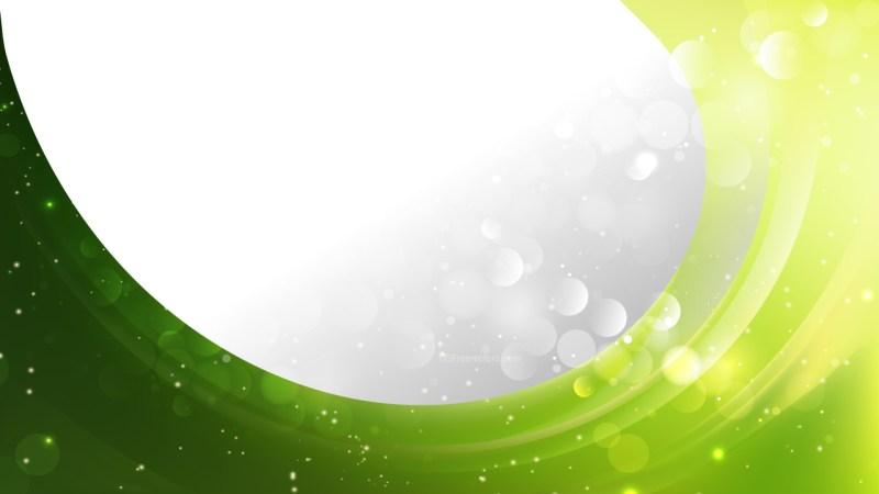Abstract Green and Yellow Wave Business Background Design Template