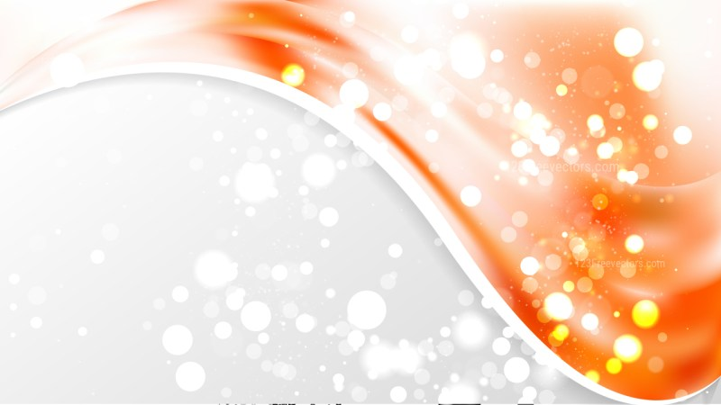 Abstract Orange and White Business Brochure