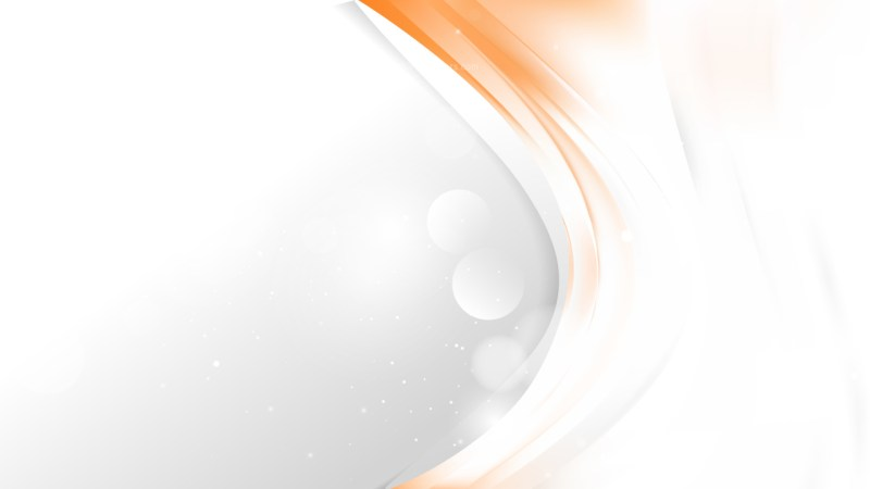 Abstract Orange and White Wave Business Background Image