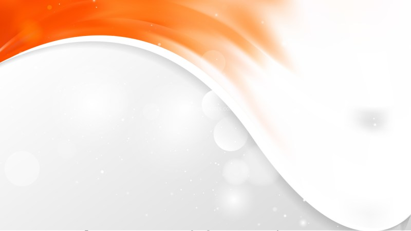 Orange and White Wave Business Background