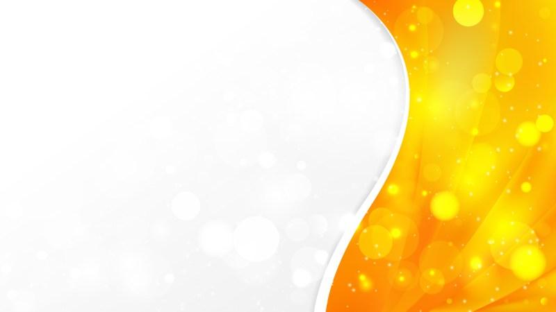 Orange and Yellow Brochure Design Template Vector Art