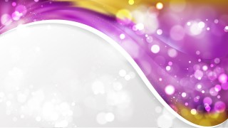 Purple and Gold Wave Business Background Graphic