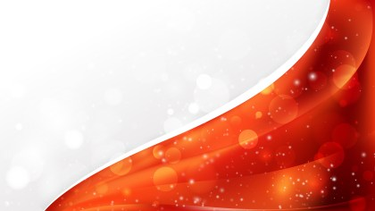 Red and Orange Wave Business Background Design