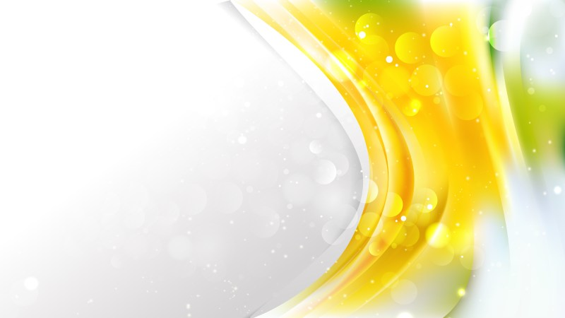 Abstract Yellow and White Brochure Design Vector Graphic