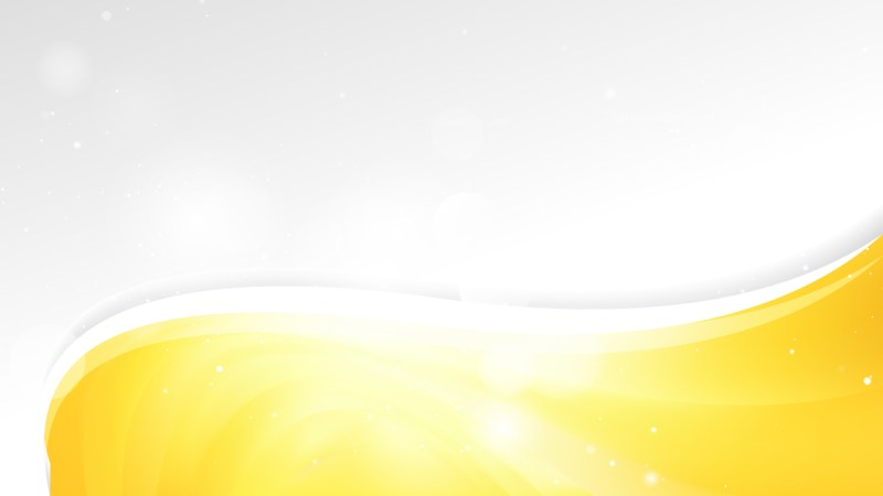 Yellow and White Wave Business Background Design