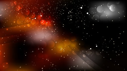 Abstract Orange and Black Background Design