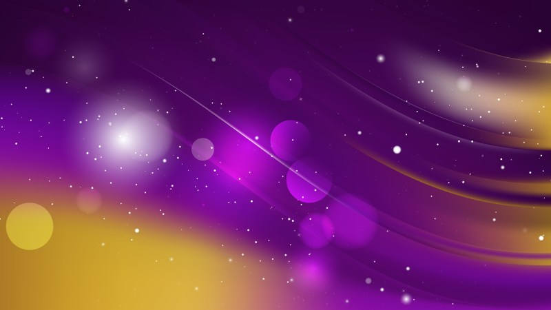 Abstract Purple and Gold Graphic Background