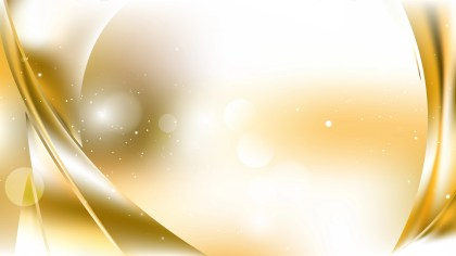 White and Gold Abstract Background Illustration