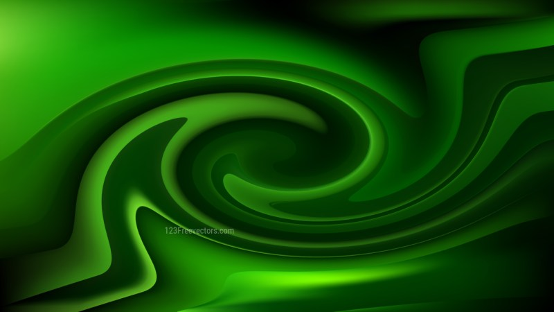 Abstract Cool Green Swirl Background
