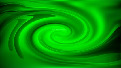 Abstract Cool Green Twirl Background